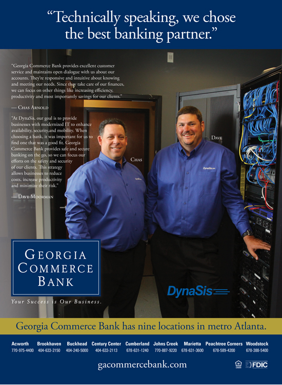 Georgia Commerce Bank Testimonial ad featuring Dynasis for Trio Media Group