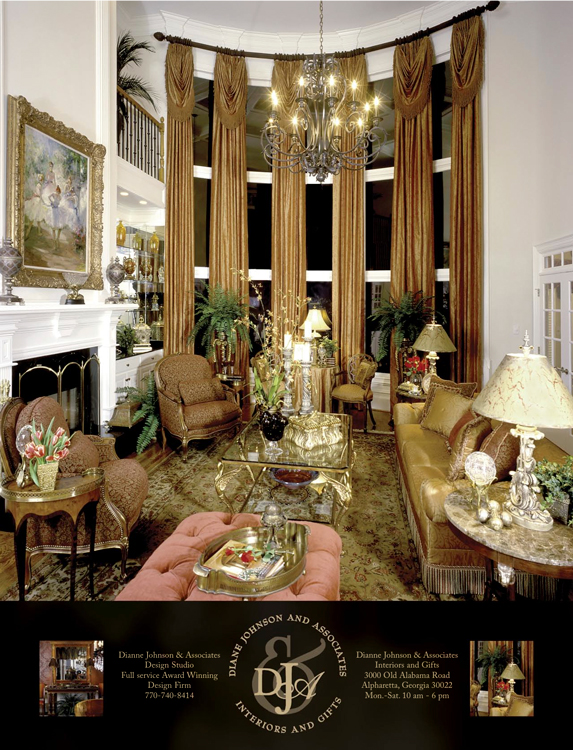 Full page ad for Diane Johnson, Interior Designer
